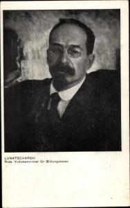 Ak Lunatscharski, Portrait, Freie Sozialistische Jugend Deutschlands