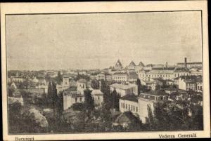 Ak București Bukarest Rumänien, Vederea Generala