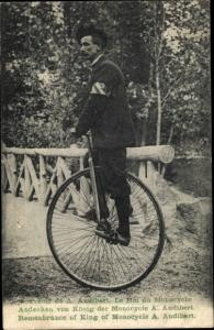 Ak A. Audibert, Monocycle, Einradfahrer