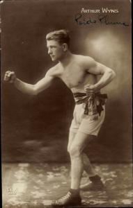 Ak Boxer Arthur Wyns, Portrait