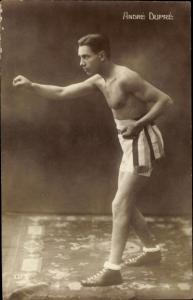 Ak Boxer André Dupré, Portrait