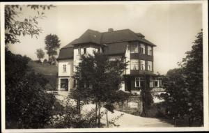 Ak Brückenberg b. Krummhübel im Riesengebirge Schlesien, Logierhaus und Pension H. Strietzel