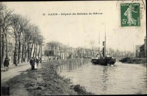 Ak Caen Calvados, Depart du bateau du Havre
