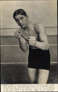 Ak Boxer Georges Carpentier, Portrait