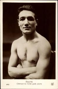 Ak Boxer Routis, Weltmeister im Fliegengewicht 1928/29