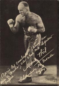 Ak Boxer Marcel Thil, Champion du Monde 1934, Portrait