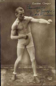 Ak Boxer Eugène Criqui, Champion d'Europe, Portrait