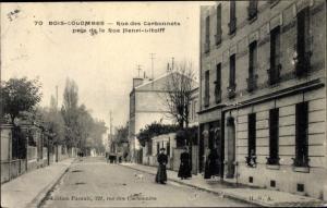 Ak Bois Colombes Hauts de Seine, Rue des Carbonnets pres de la Rue Henri Litolff