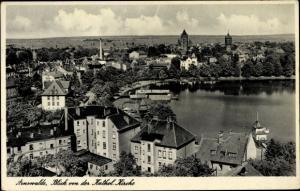 Ak Choszczno Arnswalde Ostbrandenburg, Panorama von der Katholischen Kirche