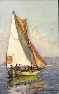 Künstler Ak L'Esterel, Segelboot