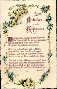Gedicht Ak Glückwunsch Konfirmation, Dich schmückt des heil'gen Tages Festgewand