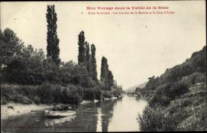 Ak Berville-sur-Mer Eure, La Vallee de la Risle, Risle Maritime