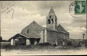 Ak Thouars Deux Sèvres, Eglise Saint Martin de Baillargeau