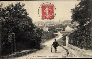 Ak Saint Prix Val d'Oise, Route de Saint Leu