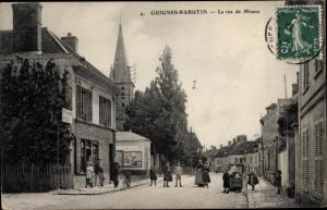 Ak Guignes Rabutin Seine et Marne, La rue de Meaux