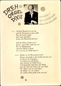 Lied Ak Kurt Henkels, Drehorgel Dixie
