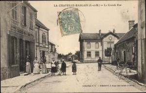 Ak La Chapelle Rablais Seine et Marne, La Grande Rue