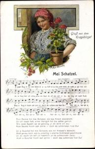 Lied Ak Schneider, Rud., Mei Schatzel, Wilhelm Vogel, Erzgebirge