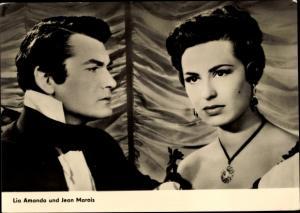 Ak Schauspieler Lia Amanda und Jean Marais, Portrait, Der Graf von Monte Christo