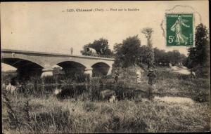 Ak Clemont Cher, Pont sur la Sauldre