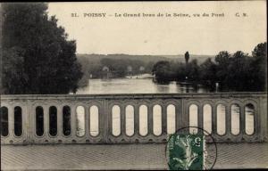 Ak Poissy Yvelines, Le Grand bras de la Seine, vu du Pont