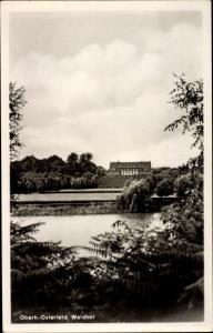 Ak Osterfeld Oberhausen Nordrhein Westfalen, Waldhof vom Ufer aus gesehen