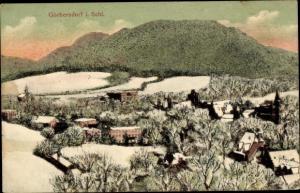 Ak Sokołowsko Görbersdorf Schlesien, Panorama vom Ort