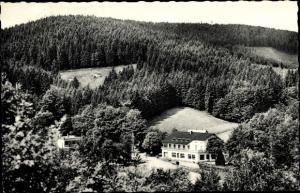 Ak Oesede Georgsmarienhütte in Niedersachsen, Hotel Restaurant Herrenrest, Wald