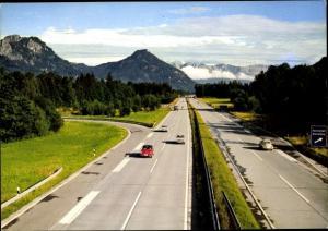 Ak Inntalautobahn Rosenheim Kufstein mit Heuberg, Kranzhorn und Kaisergebirge