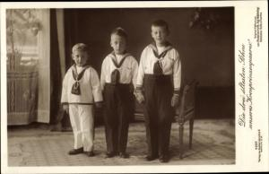 Ak Die drei ältesten Söhne des Kronprinzenpaares, Wilhelm, Louis Ferdinand, Liersch 4257