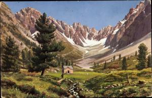 Künstler Ak Tirol, Verpeilhütte, Ötztaler Alpen