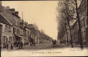 Ak Le Bourget Seine Saint Denis, Rue de Flandre