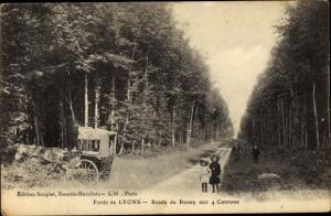 Ak Lyons la Forêt Eure, Route de Rosay aux 4 Cantons