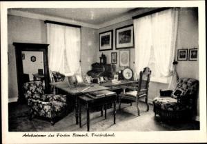 Ak Friedrichsruh Aumühle in Schleswig Holstein, Arbeitszimmer des Fürsten Bismarck