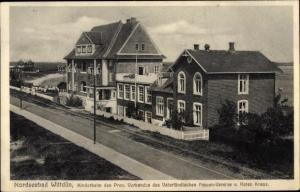 Ak Wittdün auf Amrum in Nordfriesland, Kinderheim des Vaterländischen Frauenvereins vom Roten Kreuz