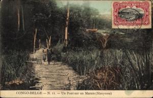 Ak DR Kongo Zaire, Un Pont sur un Marais, Manyema