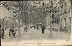 Ak Le Bourget Seine Saint Denis, Rue de Flandre et la Poste