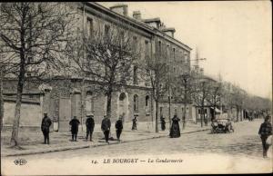 Ak Le Bourget Seine Saint Denis, La Gendarmerie