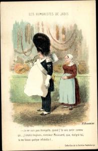 Künstler Ak Daumier, Honoré, Les Humoristes de Jadis, Monsieur Moussard, Fleischer