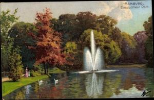 Künstler Ak Kämmerer, Rob., Hamburg Eimsbüttel, Eimsbütteler Park, Brunnen