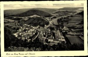 Ak Scheuern Nassau Rheinland Pfalz, Blick von Burg Nassau auf Scheuern