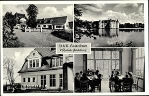 Ak Glücksburg in Schleswig Holstein, DRK Kinderheim, Außen und Innenansicht