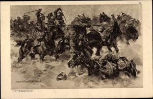 Künstler Ak Hoffmann, Anton, Reitergefecht, Das deutsche Heer, Ostpreußenhilfe 1914/15