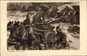 Künstler Ak Hoffmann, Anton, Schwere Artillerie, Das deutsche Heer, Ostpreußenhilfe 1914/15