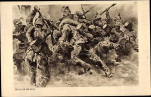 Künstler Ak Hoffmann, Anton, Handgemenge, Das deutsche Heer, Ostpreußenhilfe 1914/15