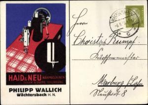 Künstler Ak Haid und Neu Nähmaschinen, Philipp Wallich, Wächtersbach in Hessen