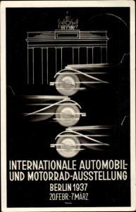 Künstler Ak Berlin Charlottenburg, Internationale Automobil und Motorrad Ausstellung 1937