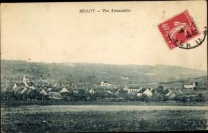 Ak Bellot Seine et Marne, vue d'ensemble