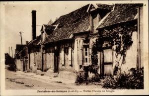 Ak Fontaines en Sologne Loir et Cher, Vieilles Maisons