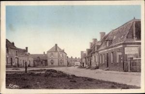 Ak La Fontenelle Loir et Cher, La Place et la route d'Arville